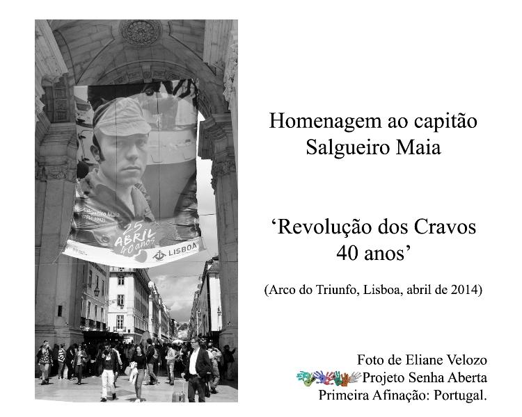 RED- HOMENAGEM  AO CAPITAO SALGUEIRO MAIA- ARCO DO TRIUNFO- LISBOA- SENHA ABERTA- ELIANE VELOZO cópia