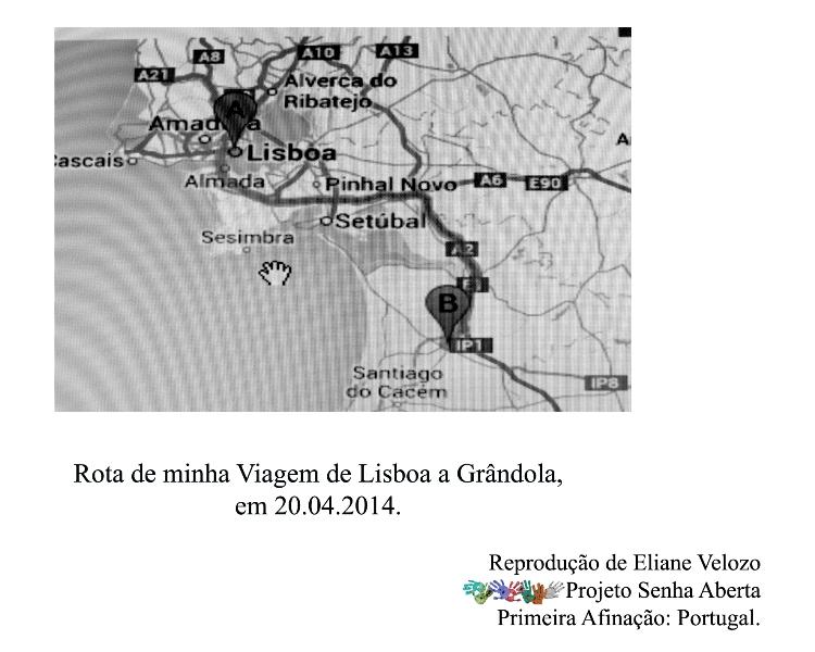 RED- MAPA DA ROTA DE MINHJA VIAGEM DE LISBOA A GRANCOLA cópia