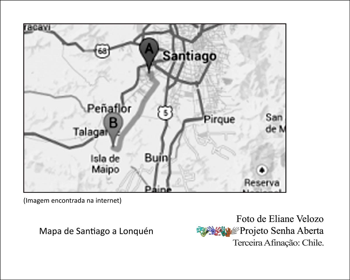 130- -mapa de santiago a lonquen  cópia